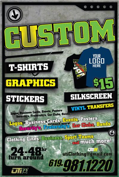 Custom Flyers T Shirt Arts Arts