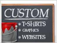 Under The Influence, Custom Silkscreen, Graphics, Web Design, T-Shirts, Stickers,!